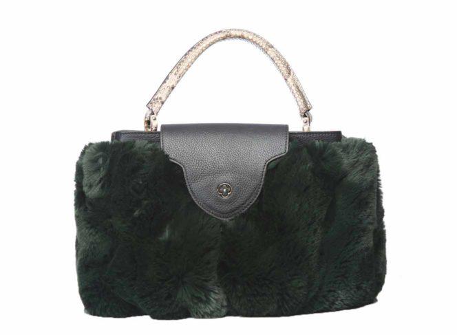 Taschencover Kunstpelz Grün