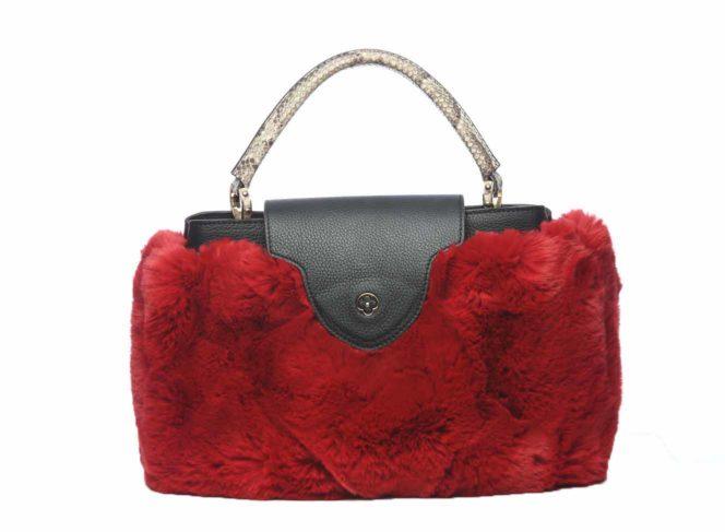 Taschen Cover Kunstpelz Rot