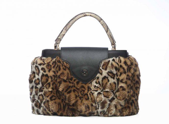 Taschen Cover Kunstpelz Leopard